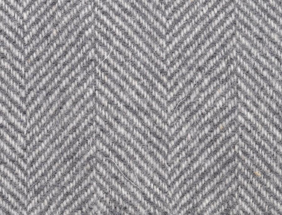 """""""Claudia 17-01""""- dark gray merino wool throw"""